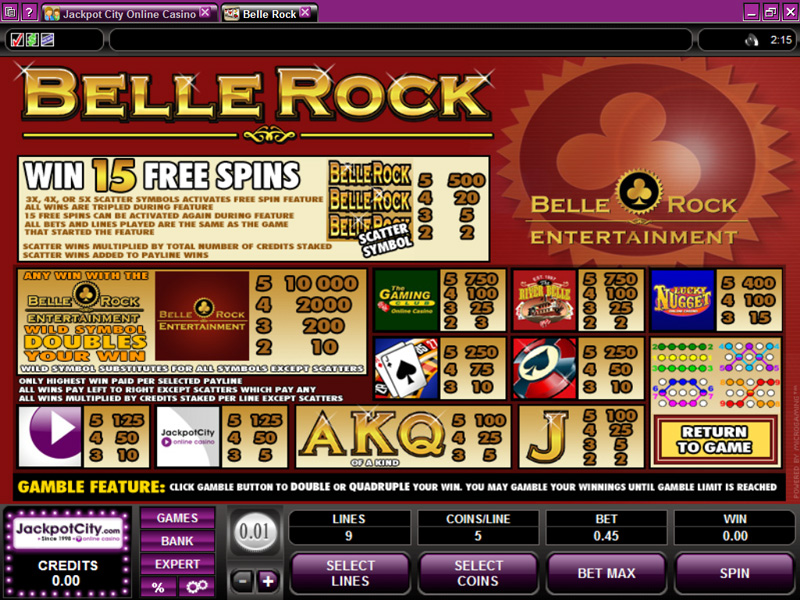 Belle Rock slot – eksklusiv Microgaming casinospil