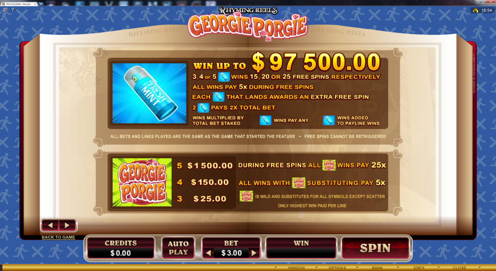 Georgie Porgie Slot - Play Free Microgaming Games Online