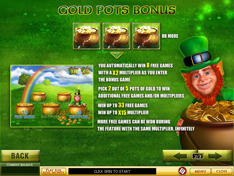 Free slot game irish luck