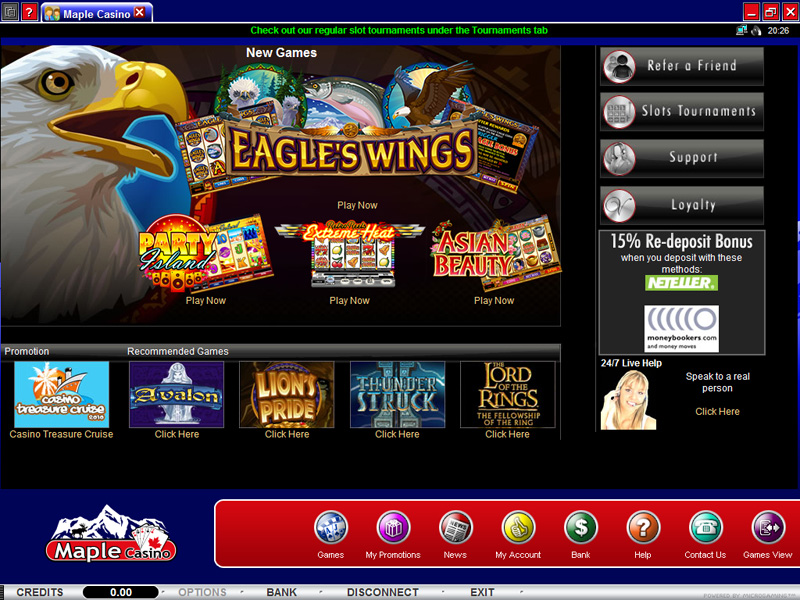 players rewards card online casinos