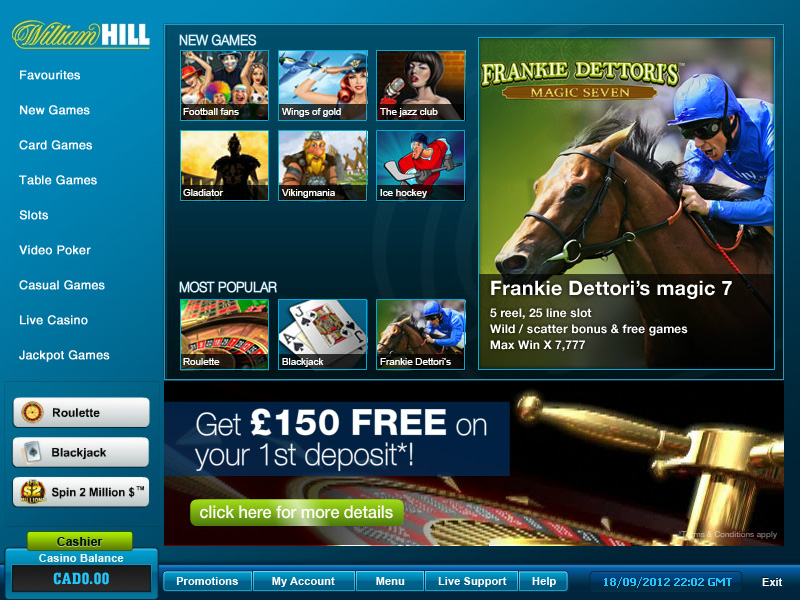 william hill online slots european roulette online